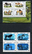 S588  Mongolia  2000  horses WWF  halogram  blocks     MNH