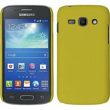 Hardcase Samsung Galaxy Ace 3 rubberized yellow Cover + protective foils