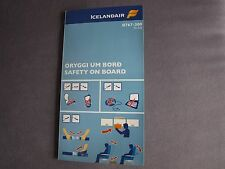 Icelandair Boeing 767-300 TF-FIB  Safety On Board Card