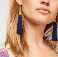 New Fashion Hook Earring Long Tassel Dangle Earrings Fringe Drop Women Jewelry