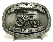 Rumely Oil Pull Tractor Belt Buckle 1988 McLouth 32nd Threshing Bee Steam Engine