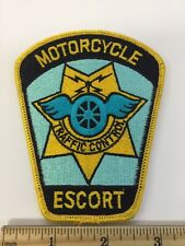Motorcycle Traffic Control Escort Patch