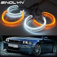 Crystal LED Angel Eyes Turn Signal For BMW E46 Non Projector Headlight Retrofit
