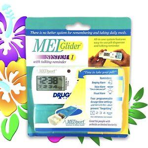 MedPort VOICE Pill Box Reminder Alarm Clock Timer Drug Medicine Case Electric