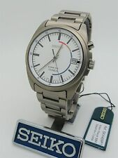 SEIKO Kinetic Titanium 5M42-0H30 SKH459P1 Box/Papers Military Feather Light 63g!