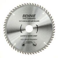 210mm x 60T TCT Circular Wood Saw Blade For Bosch, Makita, Dewalt, Festool Etc