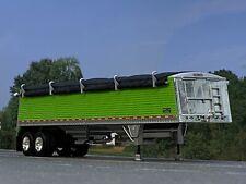 1/64 DCP LIME GREEN WILSON COMMANDER GRAIN TRAILER W/ BLACK TARP