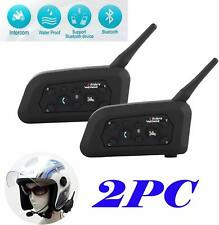 Tuo3eu V6 Motorcycle Intercom Helmet Bluetooth Headset 1200M Wireless Motorbike