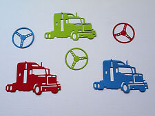 Truck & Wheel Paper Die Cuts x 3 Sets Scrapbooking Card Topper Embellishment