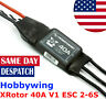 Hobbywing XRotor 40A ESC 2-6S Wire Leaded for 550 650 Quadcopter Drone