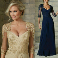 Plus Size Champagne Mother of the Bride Dresses Lace Maxi Formal Evening Gown