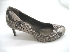 Banana Republic 7.5M beige brown black snakeskin pumps womens shoes heels pumps