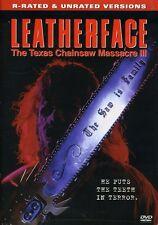 Leatherface: The Texas Chainsaw Massacre III (2005, DVD NUEVO) (REGION 1)