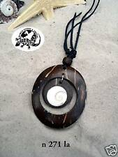 COCO WOOD SHELL NECKLACE surf surfer beach / n271la