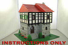 CUSTOM LEGO castle MEDIEVAL HOUSE SET INSTRUCTIONS ONLY