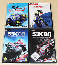 4 PC juegos colección-Moto GP 3 07 SBK 08 09 carreras de motos super bike Racing