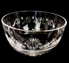 """Tiffany & Co. Crystal Glass Center Serving Bowl Cut Punties Border Signed 8"""""""