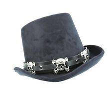 Hat Band for Cowboy Hats Black Leather Skull Cross bone Punk Rockers USA Made