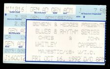 Original Vintage Chris Whitely John Campbell Majestic Theater Detroit 1992 Stub