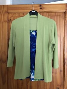 Cardigan With Built In Top Size 10