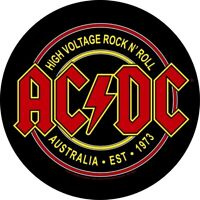 AC/DC High Voltage Rock N Roll Circular Back Patch Backpatch AC-DC ACDC New