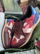 NEW!! Valentino Garavani Camo Rockrunner Sneaker Size 44EU $795