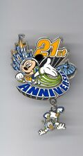 Disney 21st Tokyo Disneyland Cinderella Castle Mickey Donald Space Mountain Pin