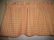 Mustard Plaid Homespun Checks fabric country farm Kitchen curtain topper Valance