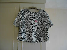 BNWT: Papaya Short Sleeved Animal Print Top: Size 16: 100% Cotton: RRP £14.00