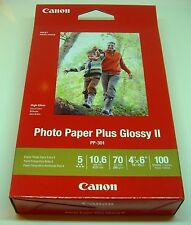 CANON PHOTO PAPER PLUS GLOSSY I IPP-301 4X6 100 SHEETS 5 STAR 10.6MIL 70LB NEW