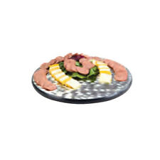 """Lakeside 2429 22"""" Diameter Stainless Steel Display Tray w/ Rubber Feet"""