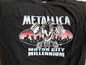 Vintage METALLICA Concert Shirt XL New Years Eve 1999-2000 Motor City