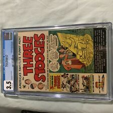 THREE STOOGES #1 1953 St John Golden Age Pre Code first issue 3.5 cgc