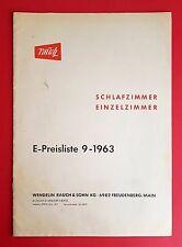 Katalog 6 Typenblätter mit Preisliste 1963 RAUCH Schlafzimmer  ( F16266