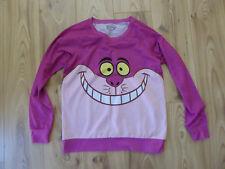 CHESHIRE CAT alice in wonderland Large L long sleeved sweatshirt jumper DISNEY