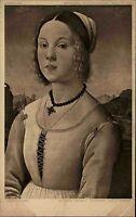 Künstlerkarte ~1910 Museum BERLIN Kunst von Verrocchio Bildnis eines Mädchens