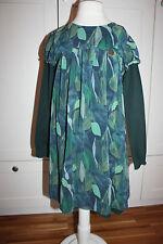Mirtillo Kleid ausgeflllen Gr. 128  Schnäppchen Mirtillo Kidswear Blätterkleid