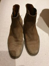 Vintage Men's Russell And Bromley Brown Suede Chelsea Boots Size 7