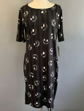 Lularoe Julia Dress Nightmare Before Christmas Jack Skellington Women's Sz Large