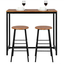 Hot Style 3 Piece Dining Set Table 2 Stools Pub Home Kitchen Breakfast Furniture