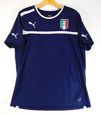 PUMA ITALIA Soccer Football Logo JERSEY Shirt Italy MEN'S LARGE