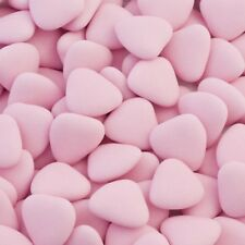 Heart Chocolate Dragees 1KG Wedding Favour Baby Shower Valentine PINK