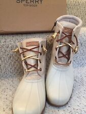 Sperry Duck Boots Womens size 9.5 Oat Gold New In Box Org Price $120 SALE $85