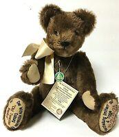 "Rare Limited 18"" Hermann Old Twenties Replica Brown Mohair Jointed Growler Bear"