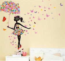 Home Wall Decal Buterfly & Girl Removable Vinyl Art Wall Sticker Room Decor Hot