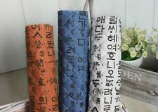 Korean writing letter Cotton Blend Ready Quilted Fabric Pre-quilted padded JQ41+