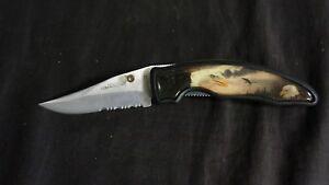 APACHE CUTLERY WILDLIFE SERIES LOCKBLADE POCKET KNIFE EAGLE NO BOX