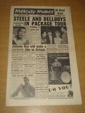 MELODY MAKER 1957 MARCH 30 TOMMY STEELE FREDDIE BELL JOHNNIE RAY JOAN REGAN +