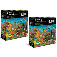2PK 1000pc Crown Vivid Views Series Sunny Garden 68.6cm Jigsaw Puzzle Toy 15y+