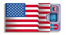 Cover für ec-Karten cardbox USA Fahne Flagge Kartenschutzhülle Kartenhülle Etui